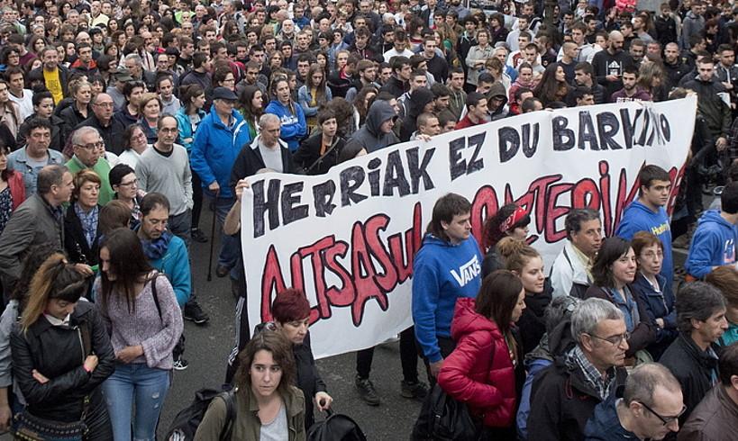 Altsasun joan den ostiralean egindako manifestazioa.