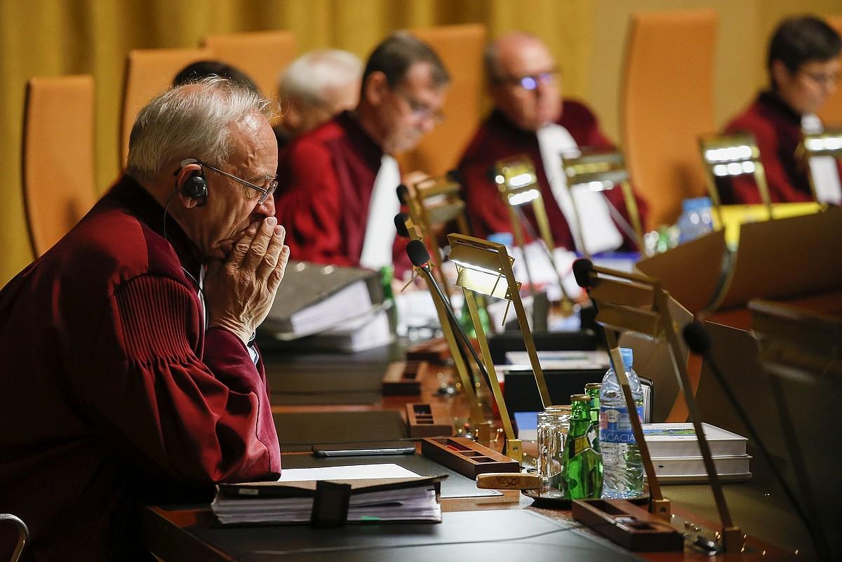 Europako Justizia Auzitegiko epaileak, Luxenburgoko epaitegian, artxiboko irudi batean. ©JULIEN WARNAND / EFE