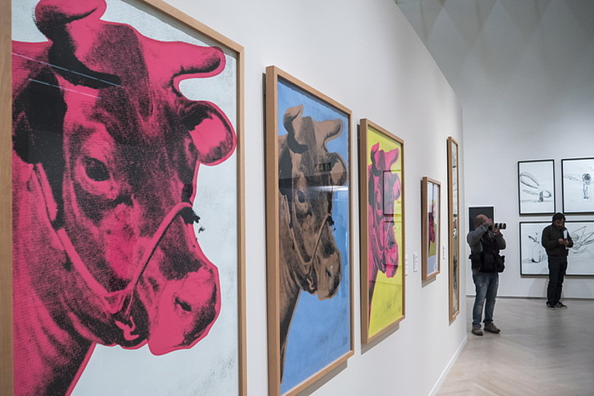 <b>Andy Warhol. </b>Artistaren lan esanguratsuenetako bat: bere behi ezaguna, 60ko urtetakoa. &copy;ANDONI CANELLADA / @FOKU