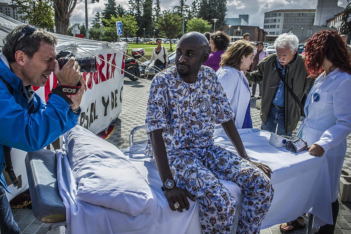 Osasun unibertsalaren aldeko protesta, Iruñean. ©LANDER FERNANDEZ ARROIABE / FOKU