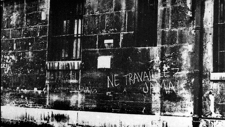 Guy Debord, <em>Ne travaillez jamais</em>, 1953; <em>Internationale Situationniste</em> aldizkarian argitaratua, 1963an. ©- / EZEZAGUNA