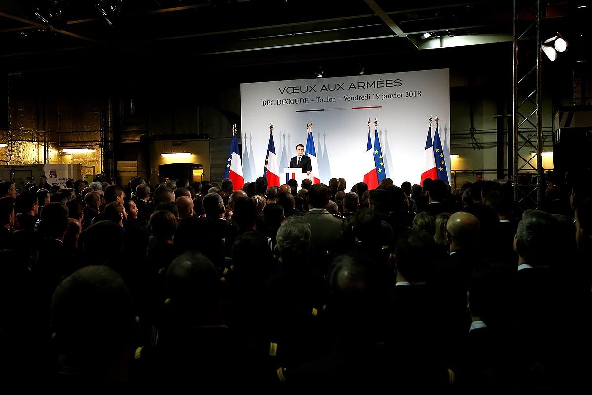 Emmanuel Macron lehendakariaren hauteskunde programan zegoen egitasmoa. ©SEBASTIEN NOGIER
