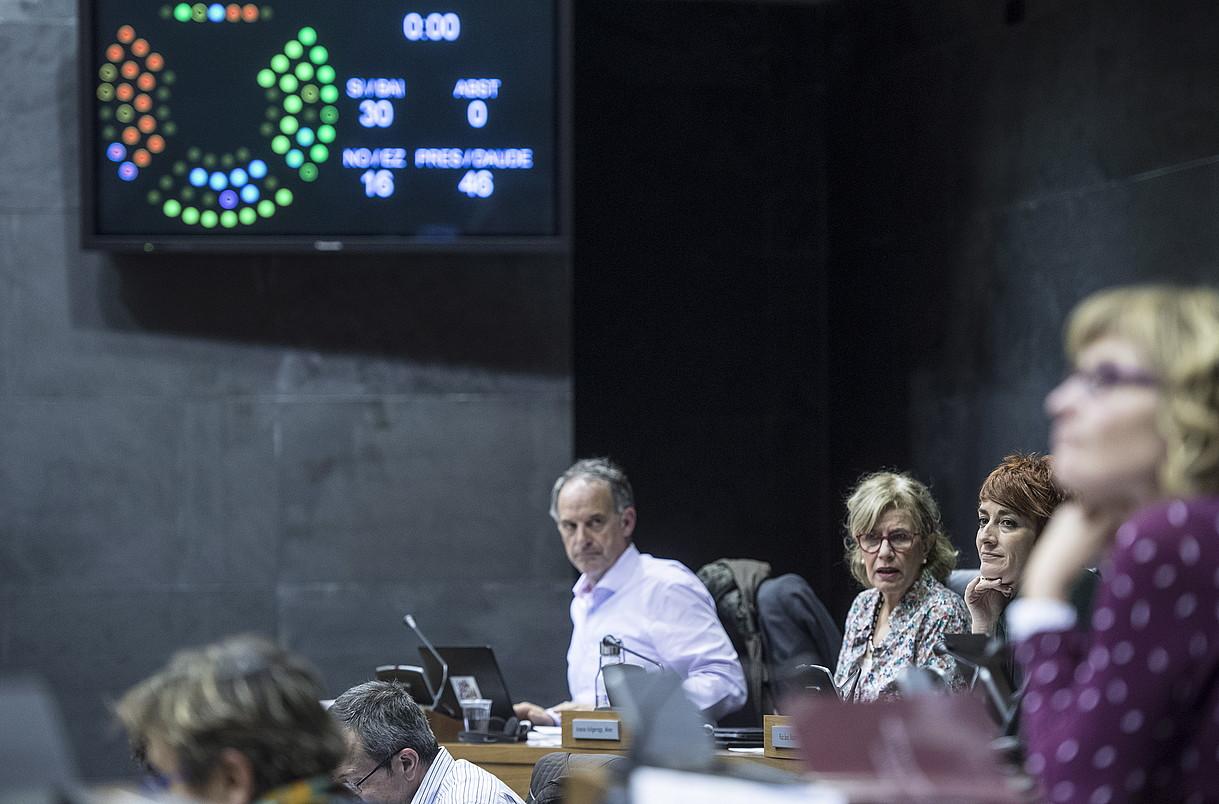 Azaroaren 9an Nafarroako Parlamentuan izandako bozketa.