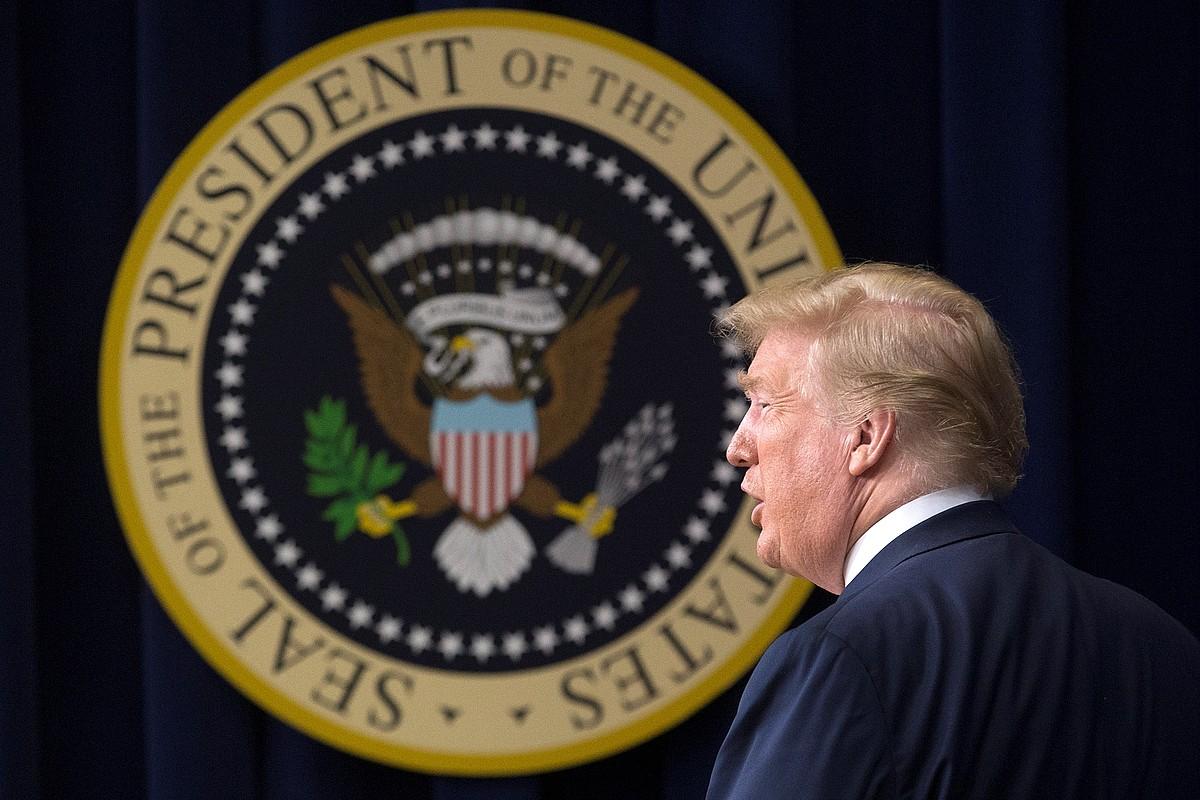 Donald Trump AEBetako presidentea, atzo Etxe Zurian. ©MICHAEL REYNOLDS / EFE