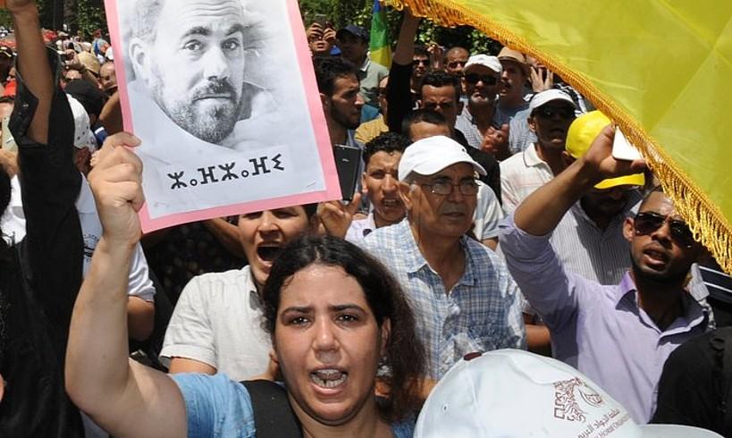 Hirak al-Xaabiko hainbat kideren epaiketaren kontrako protesta, iazko ekainean, Rabaten. ©ABDELHAK SENNA / EFE