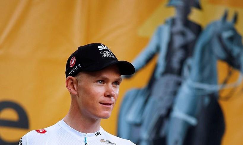 Chris Froome herenegun, La-Roche-sur-Yonen, Frantziako Tourraren aurkezpenean. ©KIM LUDBROOK / EFE