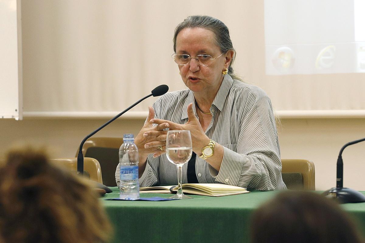 Amelia Valcarcel, atzo, EHUko Udako Ikastaroetan.