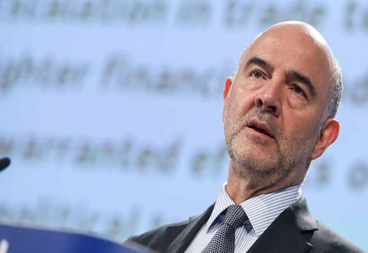 Pierre Moscovici EBko Ekonomia komisarioa, atzo. ©STEPHANIE LECOCQ / EFE