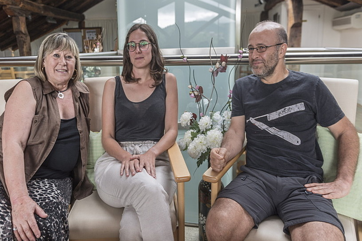 Amaia Lasak, Alba Garmendiak eta Eduardo Apodakak parte hartu dute Jakinen <em>Utopia 68/18. Iruditeriaren bila</em> jardunaldietan. &copy;GORKA RUBIO / FOKU