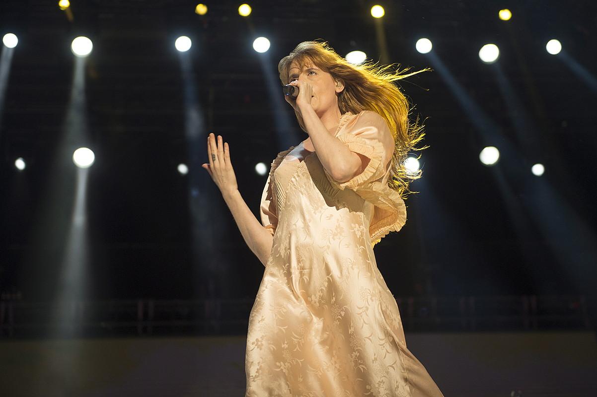Florence + The Machine izan zen BBK Live jaialdiko lehen eguneko protagonista nagusia. ©MONIKA DEL VALLE / FOKU