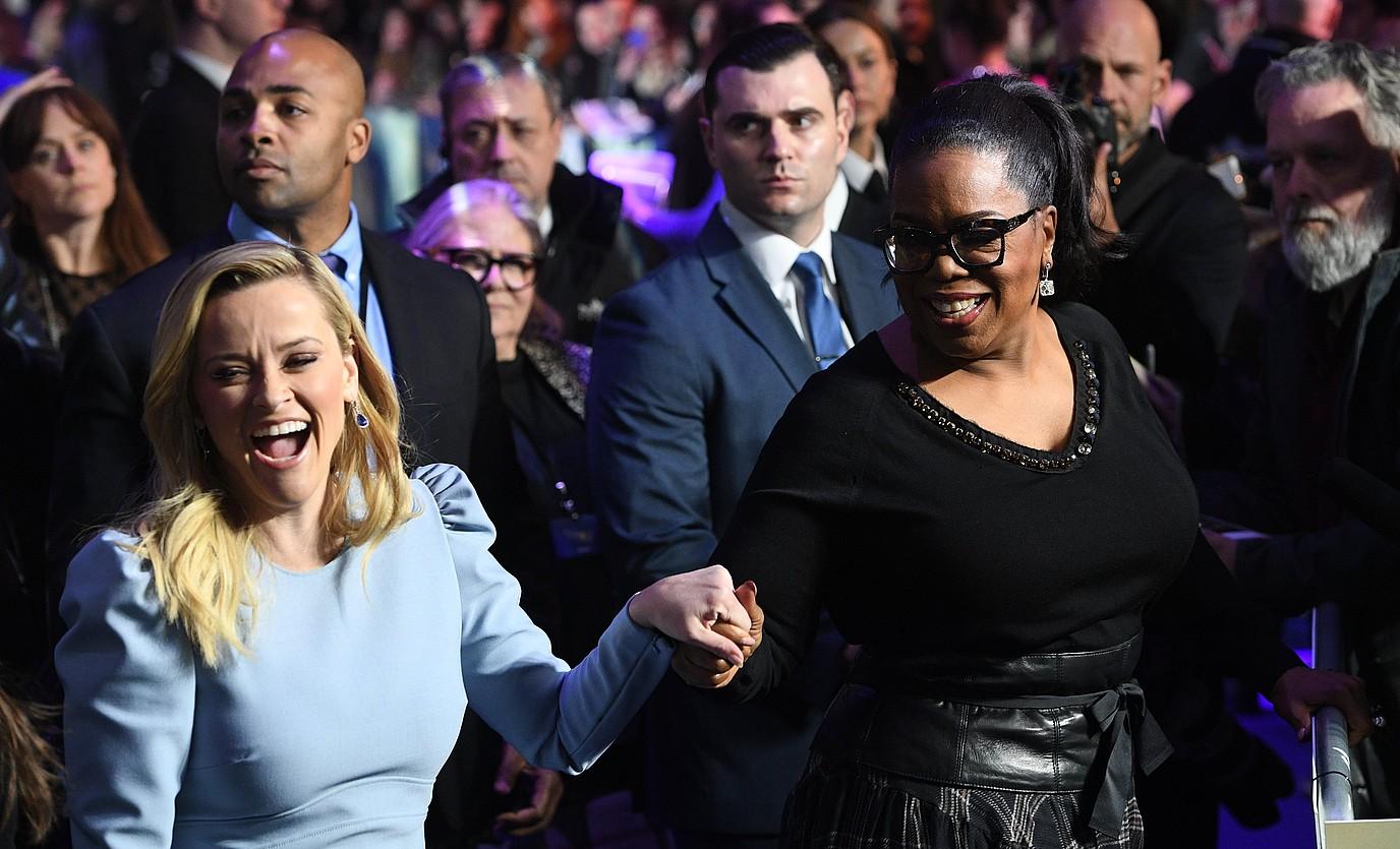 Reese Witherspoonek eta Oprah Winfreyk zenbait saio ekoitziko dituzte Applerentzat. ©FACUNDO ARRIZABALAGA / EFE