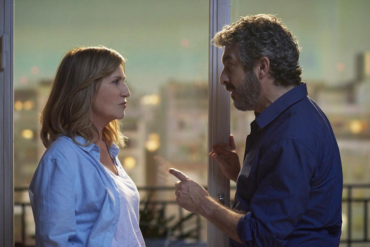 Mercedes Moran eta Ricardo Darin aktoreak, <em>El amor menos pensado</em> filmeko eszena batean. &copy;DONOSTIAKO ZINEMALDIA