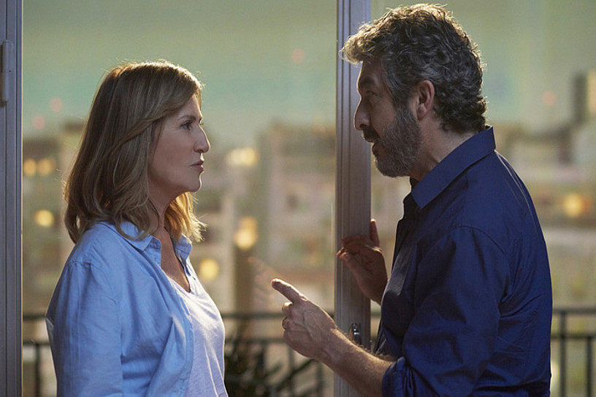 Mercedes Moran eta Ricardo Darin aktoreak, <em>El amor menos pensado</em> filmeko eszena batean.