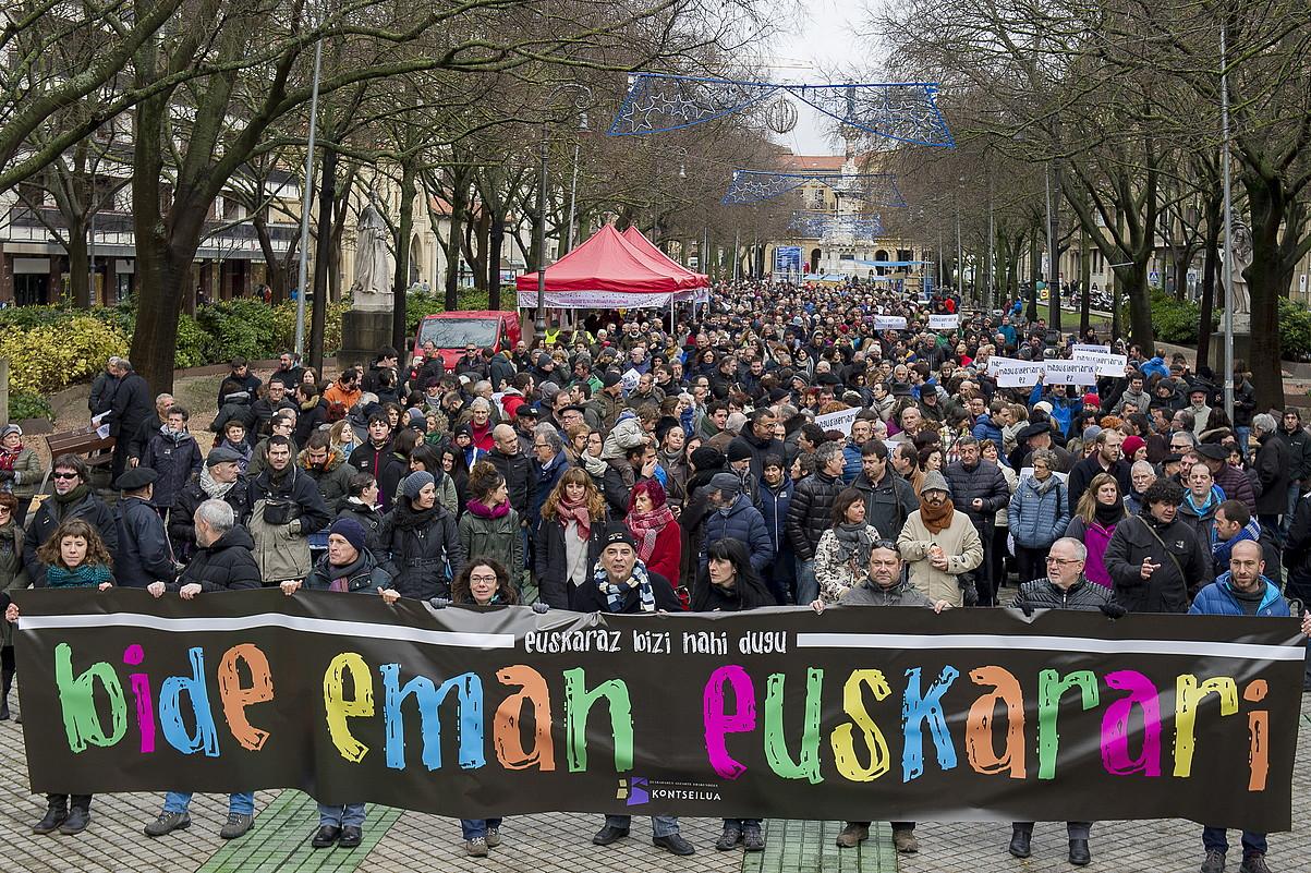 Euskararen alde iazko abenduan Iruñean eginiko manifestazioa. ©IÑIGO URIZ / FOKU