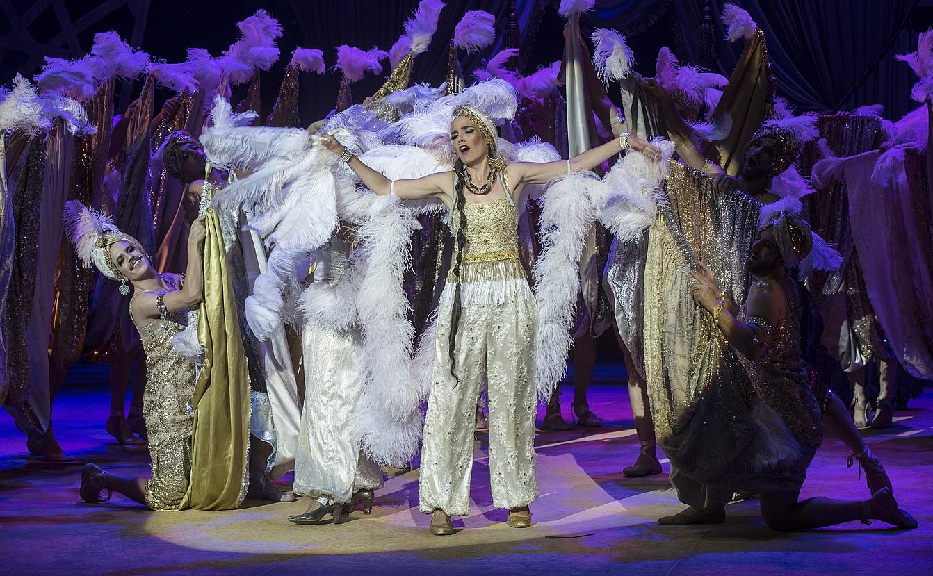 Donostiako Kursaaleko auditoriumean estreinatuko dute, bihar, Giochino Rossiniren <i>Italiarra Aljerren</i> opera. &copy;JON URBE / FOKU