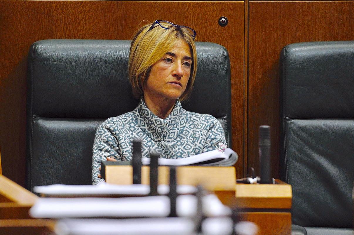 Pili Zabala, Eusko Legebiltzarrean, aurtengo otsailean.