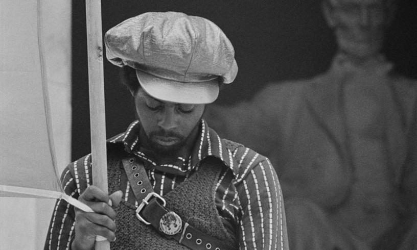Pantera Beltzen kide bat Washingtongo kongresuan (1970).