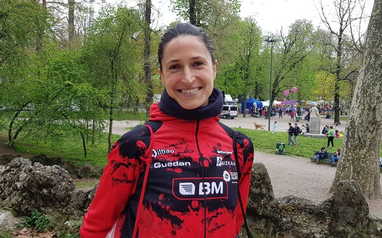 Elena Loyo, BM Bilbo taldeko maratoilari zuiarra. ©BM BILBO