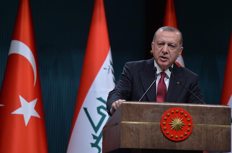 Recep Tayyip Erdogan Turkiako presidentea, asteartean, Ankaran. ©STR / EFE