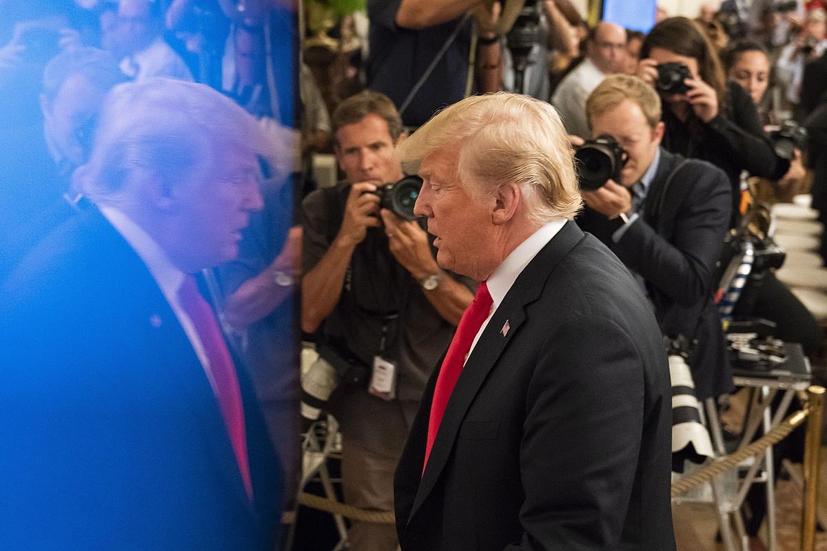 Donald Trump AEBetako presidentea, Etxe Zurian ekitaldi batean.