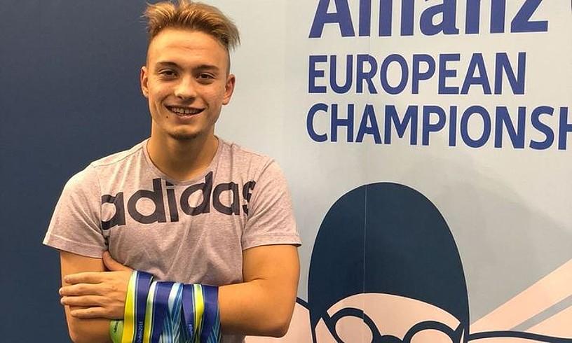 Iñigo Llopis, Europako Txapelketan irabazitako bost dominekin. ©IÑIGO LLOPIS