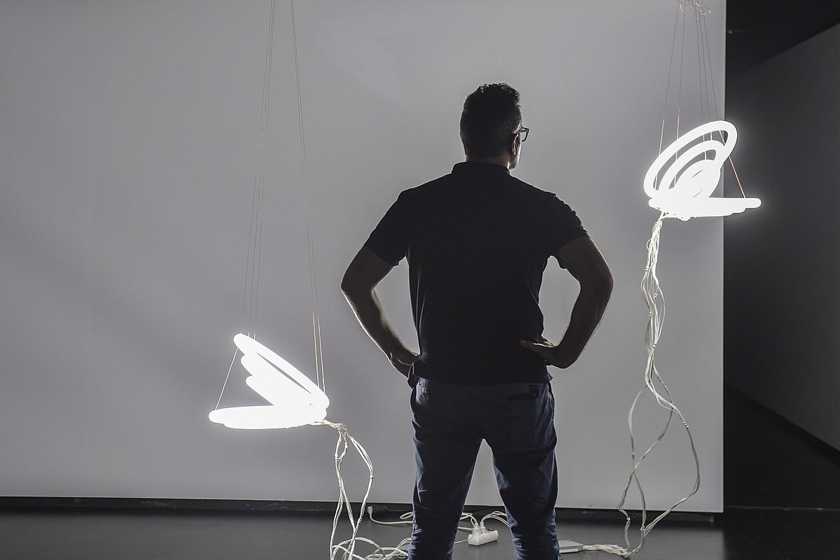 Karlos Martinezen eta Javier Arbizuren <i>Macla, mamua, bismuto, vicario</i> proiektua azaroaren 30era arte egongo da Oteiza Museoan. &copy;IDOIA ZABALETA / FOKU