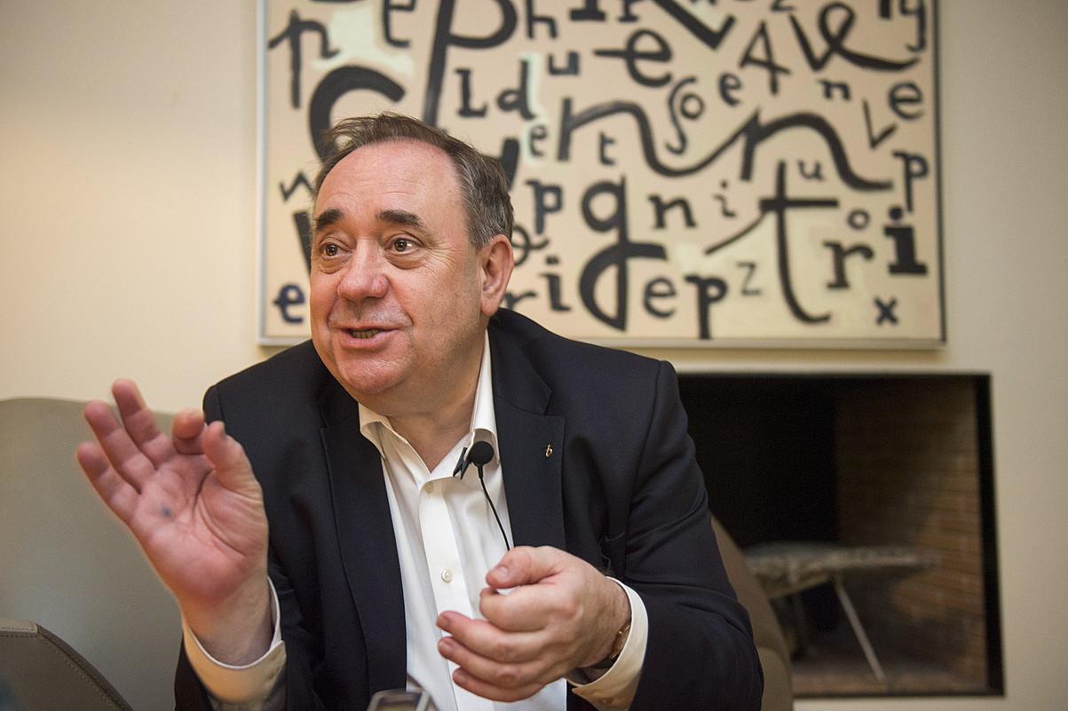 Salmond BERRIAri emandako elkarrizketan, 2016an, Bilbon. ©MARISOL RAMIREZ / FOKU