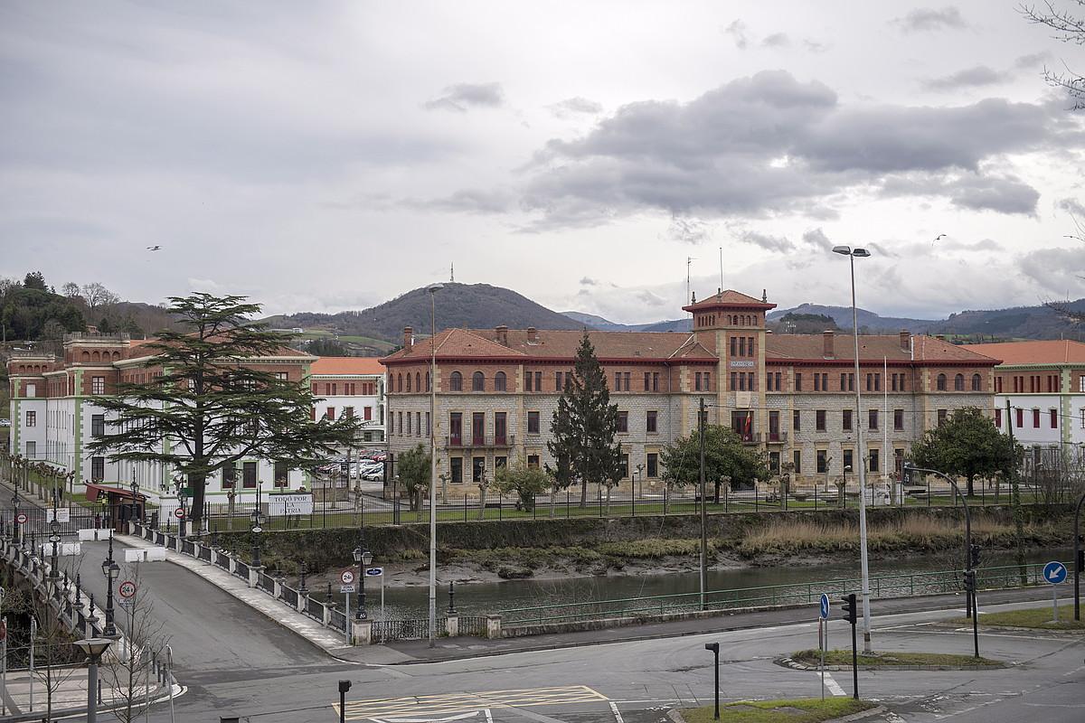 Loiolako kuartel militarra, 2017ko irudi batean.