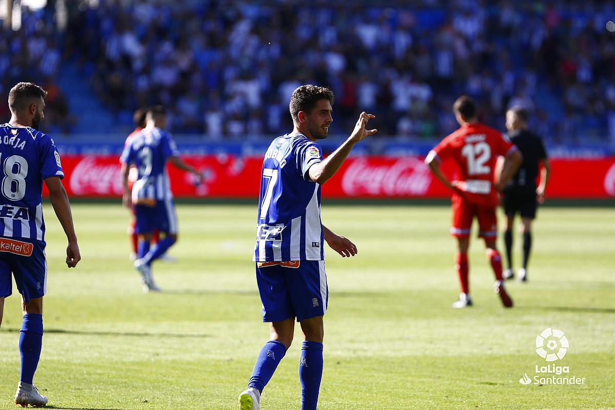 Ruben Sobrino, Espanyoli sartutako gola ospatzen. ©LFP
