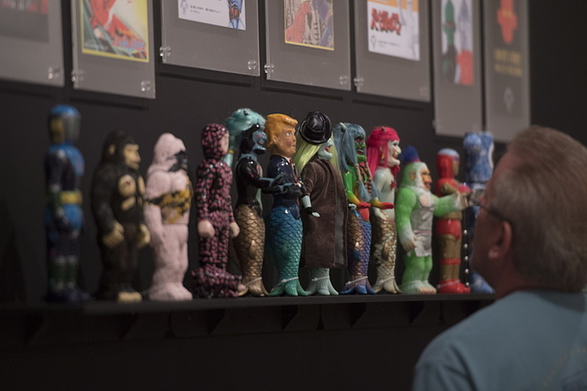 Mundu osoko hainbat artistak eginiko lanak daude ikusgai erakusketan.