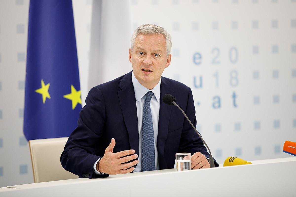 Frantziako Ekonomia ministro Bruno Le Maire.