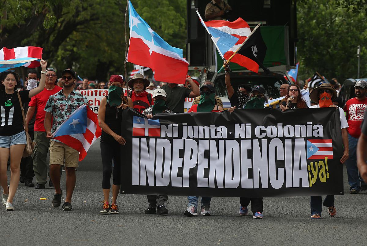 Independentziaren aldeko manifestazioa, iaz, Puerto Ricon.