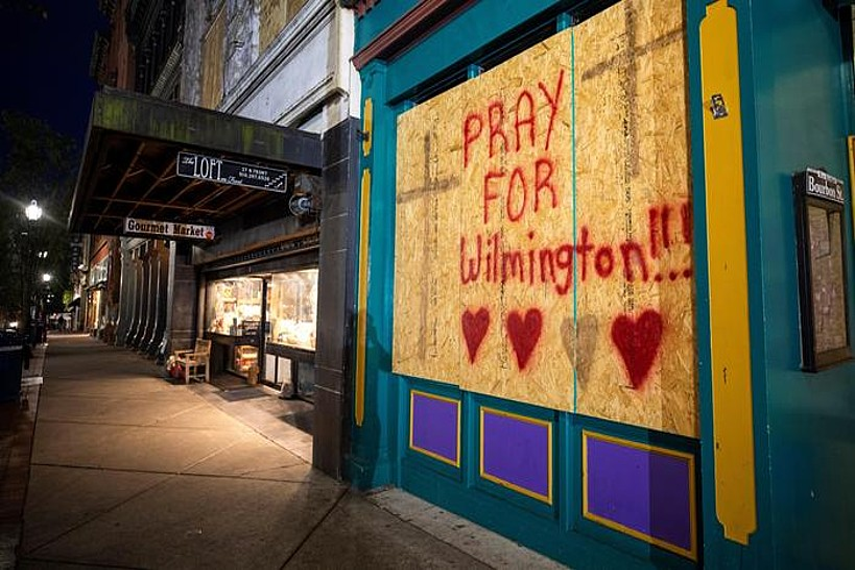 Wilmington hiria urakana iritsi baino ordu batzuk lehenago.