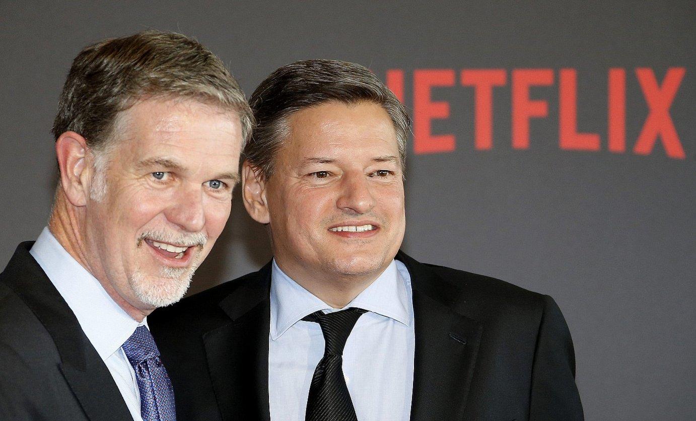 Reed Hastings Netflix plataformaren sortzailea eta Ted Sarandos eduki arduraduna, Marseillan. ©GUILLAUME HORCAJUELO / EFE