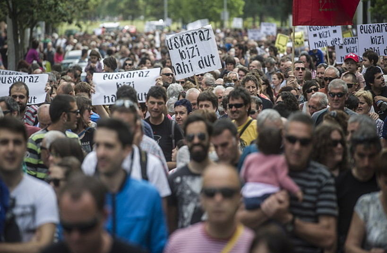 2016ko ekainaren 4an Kontseiluak euskararen ofizialtasunaren alde Iruñean eginiko manifestazioa.