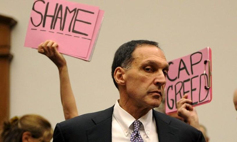 Dick Fuld Lehman Brothers bankuko burua, 2008ko urrian AEBetako Kongresuan egindako agerraldian.