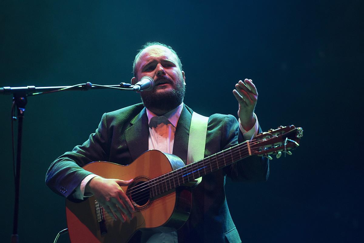 Niño de Elche musikaria, herenegun, Donostia Festibalean eman zuen kontzertuan. ©GORKA RUBIO / FOKU