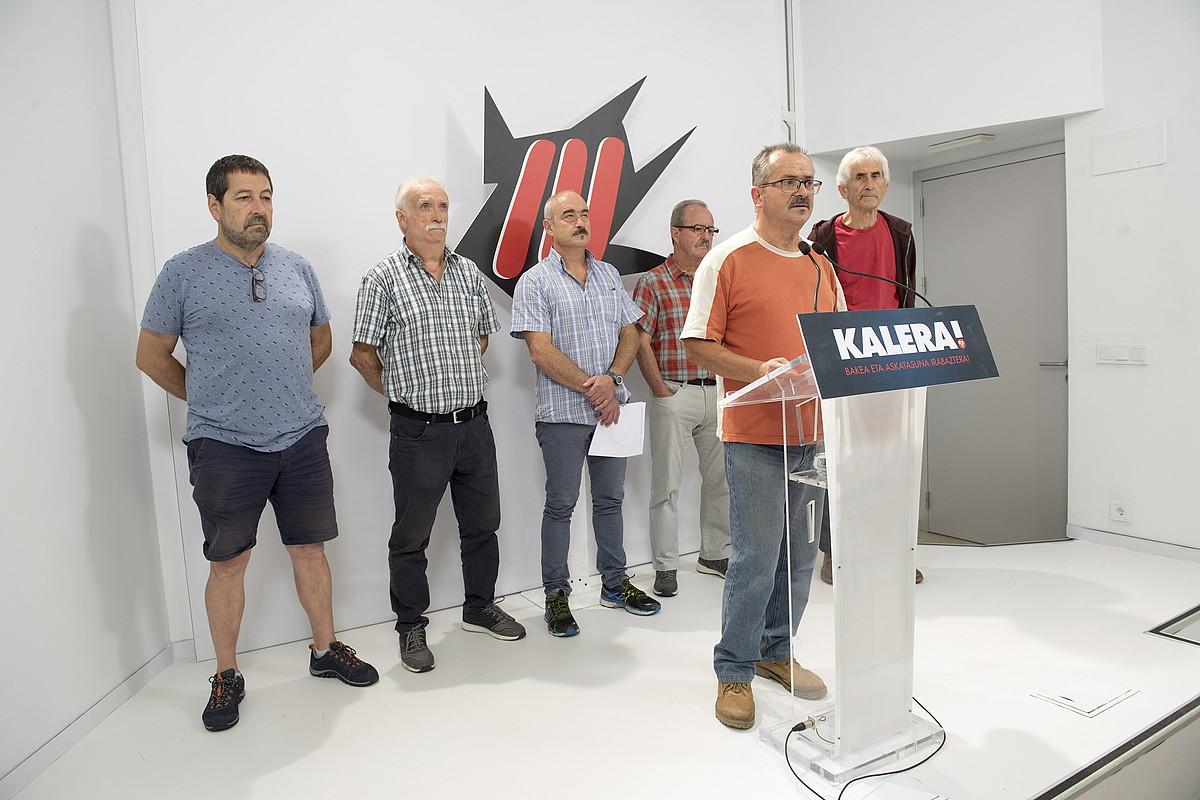 Kalera Kalera dinamikako kideak, atzoko aurkezpenean. ©JUAN CARLOS RUIZ / FOKU
