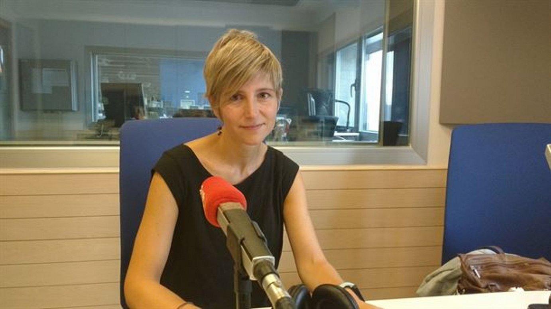 Maria Jauregi Lasa, Bilbon, EITBren egoitzan. Elkarrizketa eman zion atzo Euskadi Irratiko <em>Faktoria</em> saioari. / BERRIA