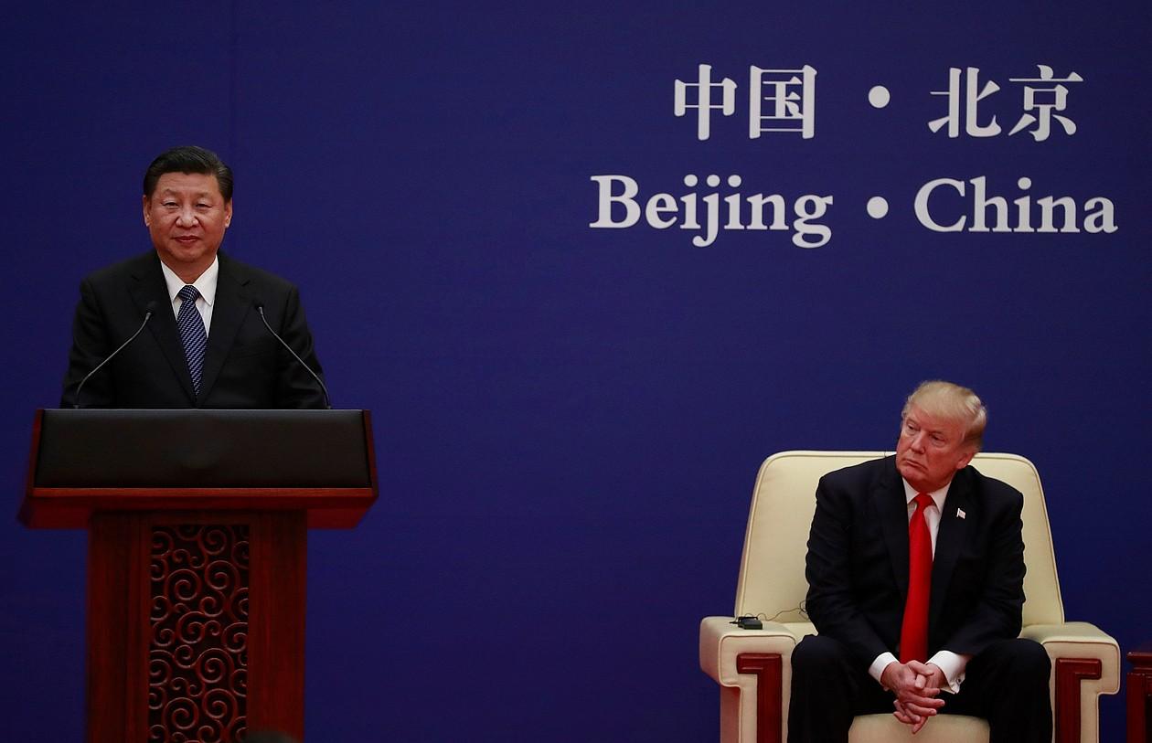 Xi Jinping eta Donald Trump, Pekinen, artxiboko irudian.