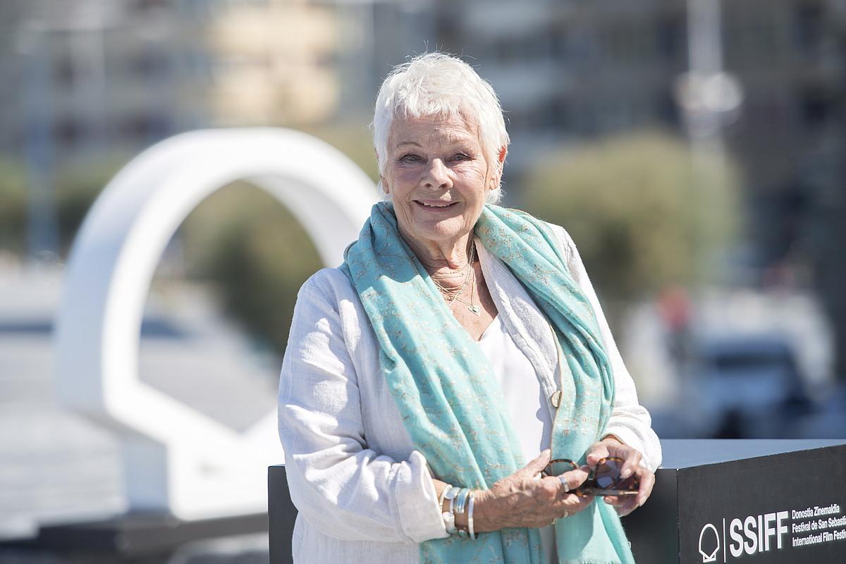 Judi Dench aktorea, atzo, Donostia saria jaso aurretik. ©JUAN CARLOS RUIZ / FOKU