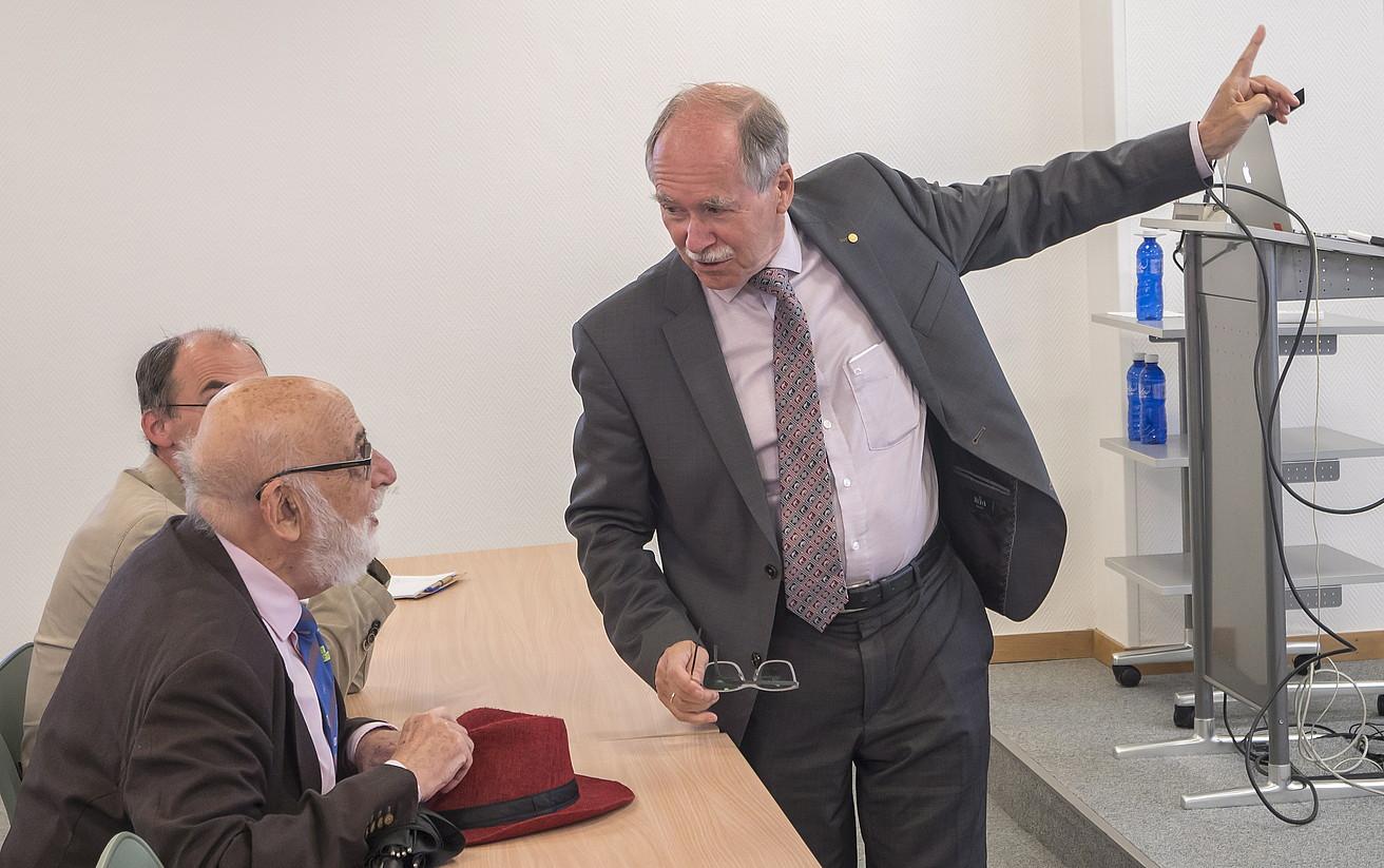 Englert eta 't Hooft Nobel saridunak, Donostian. ©ANDONI CANELLADA / FOKU