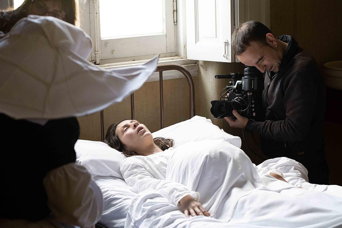 Xanti Rodriguez, <em>Lekaime</em> filmeko sekuentzia bat grabatzen. &copy;XANTI RODRIGUEZ