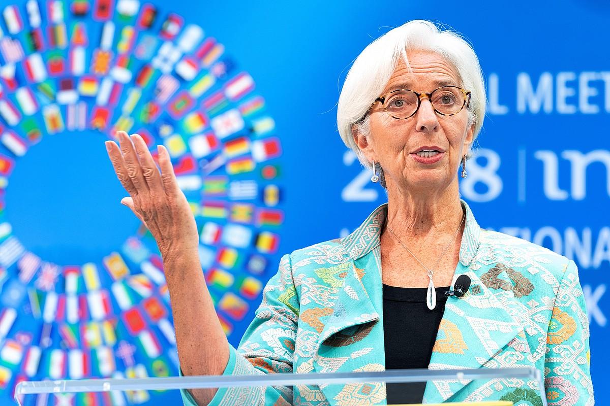 Christine Lagarde NDFko zuzendaria, joan den astean.