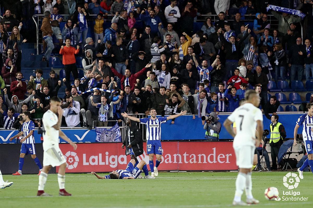 Jonathan Calleri, Real Madrilen aurkako garaipena ospatzen. ©LFP