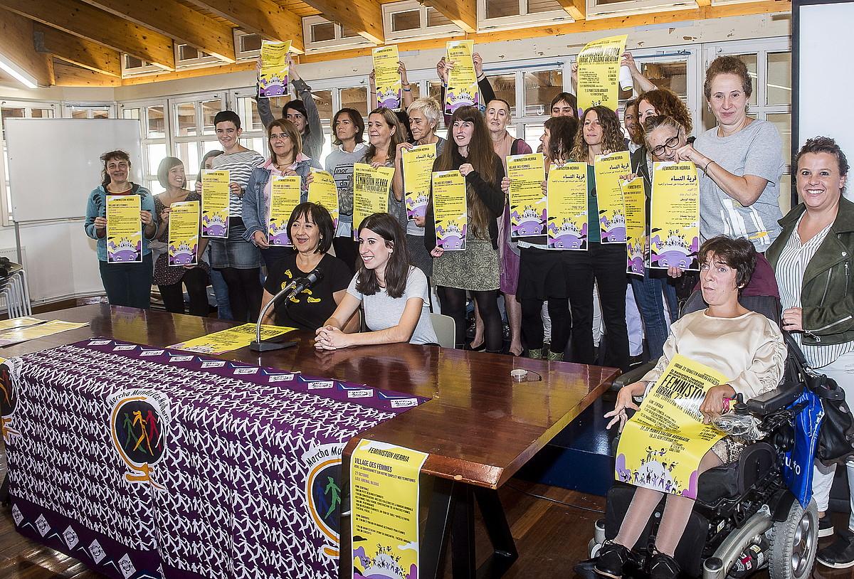 Feministon Herriaren aurkezpen ekitaldia, atzo, Bilbon. ©LUIS JAUREGIALTZO / FOKU