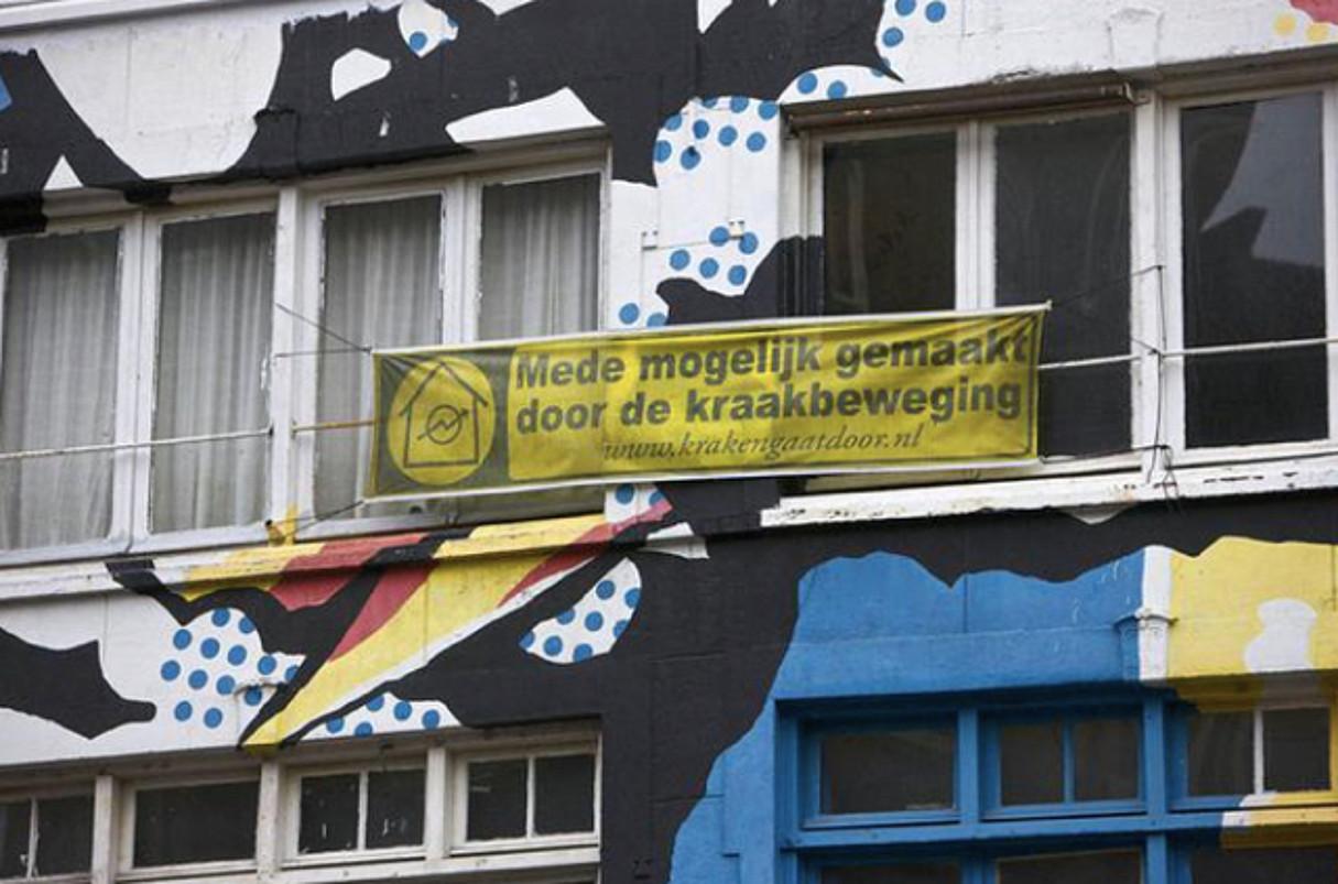 Amsterdamgo Spuistraateko Vrankrijk okupa etxea. Oraindik bizi da. ©BERRIA