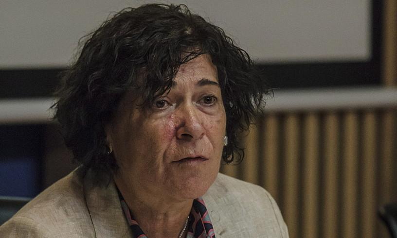 Elena Moreno Ingurumen sailburuordea, artxiboko argazki batean.
