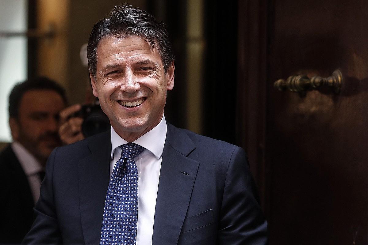 Giusepppe Conte Italiako lehen ministroa, atzo, Erroman.