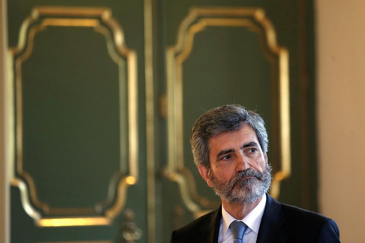 Carlos Lesmes, Espainiako Auzitegi Goreneko presidentea, artxiboko irudi batean.